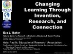 Changing Learning Through Invention, Research, and Connection