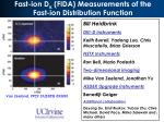 Fast-ion D  (FIDA) Measurements of the Fast-ion Distribution Function