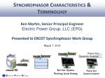 Synchrophasor Characteristics & Terminology