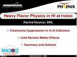 Heavy Flavor Physics in HI at PHENIX