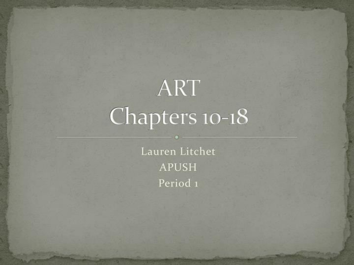 art chapters 10 18 n.