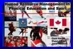 Human Resource Management in Physical Education and Sport