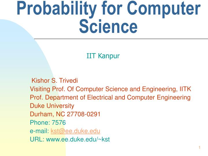 probability for computer science n.