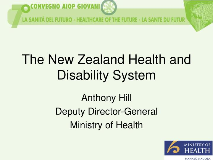 the new zealand health and disability system n.