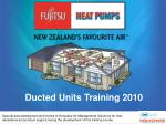 Ducted Units Training 2010