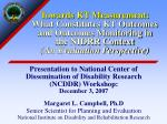 Presentation to National Center of Dissemination of Disability Research (NCDDR) Workshop: