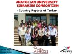 Country Reports of Turkey