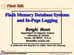 Flash Memory Database Systems and In-Page Logging