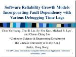 Software Reliability Growth Models Incorporating Fault Dependency with Various Debugging Time Lags