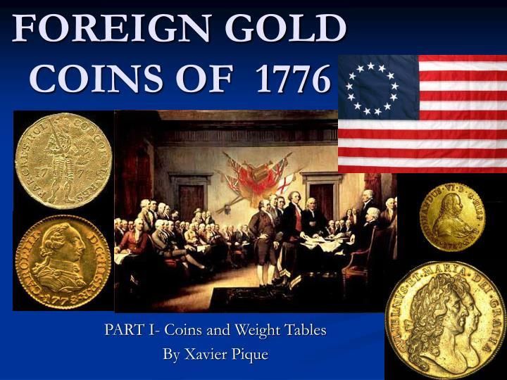 foreign gold coins of 1776 n.
