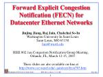 Forward Explicit Congestion Notification (FECN) for Datacenter Ethernet Networks