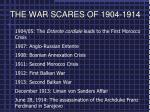 THE WAR SCARES OF 1904-1914