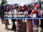 HUMANITARIAN PROGRAMME CYCLE