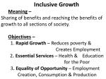 Inclusive Growth Meaning  –