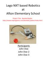 Lego NXT based Robotics at Afton Elementary School
