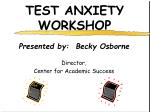 TEST ANXIETY WORKSHOP