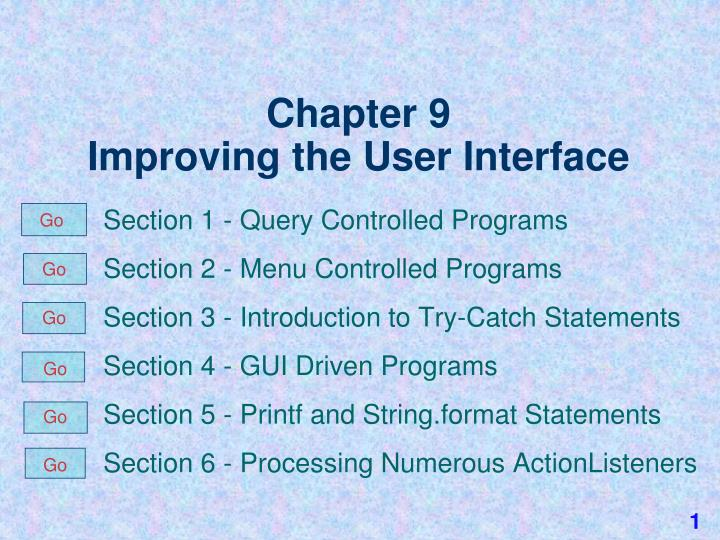 chapter 9 improving the user interface n.