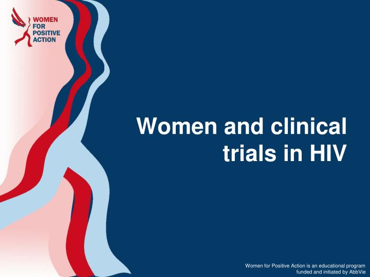 women and clinical trials in hiv n.