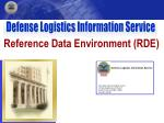 Reference Data Environment (RDE)