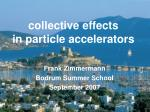 collective effects in particle accelerators