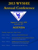 2013 WVSHE Annual Conference