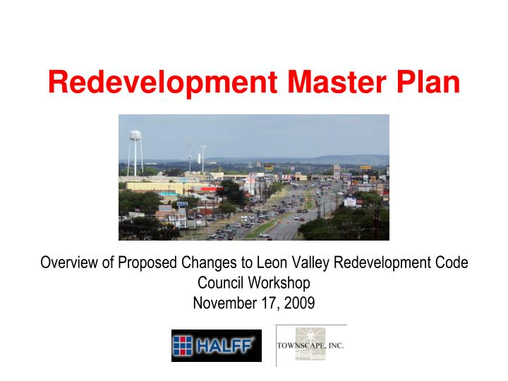 city of leon valley redevelopment master plan n.