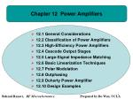 Chapter 12 Power Amplifiers