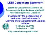 LDDI Consensus Statement