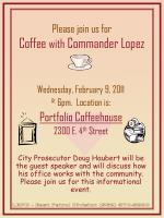 Please join us for Coffee  with  Commander Lopez