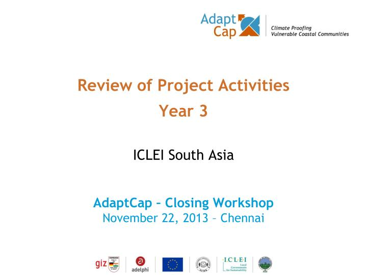 review of project activities year 3 n.