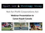 Not-for-Profit Corporations Act