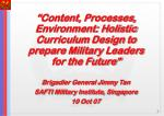 Strategic Defence & Security Perspective