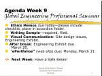 Agenda Week 9 Global Engineering Professional Seminar