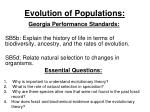 Evolution of Populations: