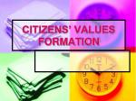 CITIZENS' VALUES FORMATION