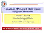 The ATLAS RPC Level-1 Muon Trigger: Design and Simulation