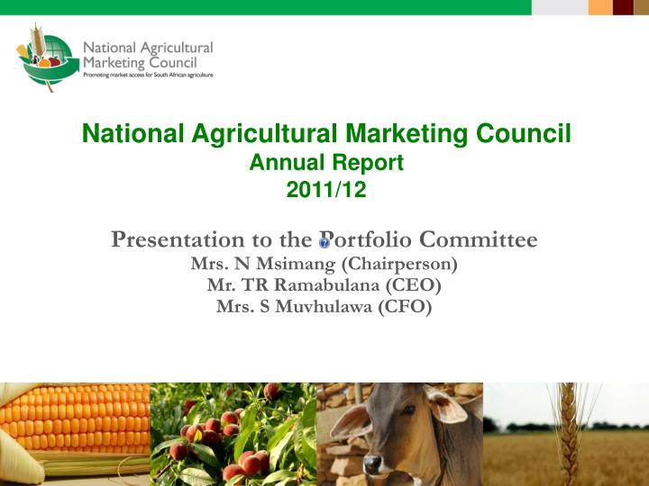 national agricultural marketing council annual report 2011 12 n.