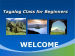 Tagalog Class for Beginners