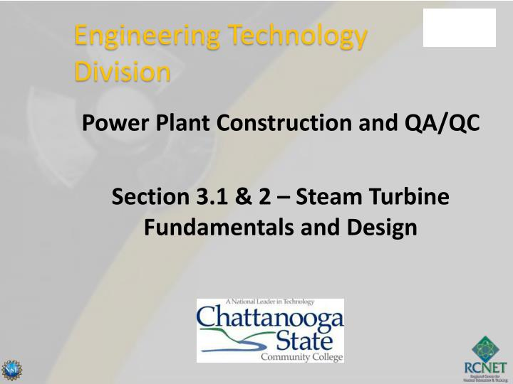 power plant construction and qa qc section 3 1 2 steam turbine fundamentals and design n.