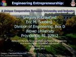 Engineering Entrepreneurship: A Unique Cooperation Between University and Industry