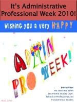 It's Administrative Professional Week 2010!