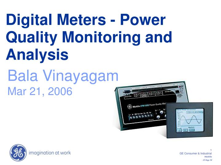 digital meters power quality monitoring and analysis n.