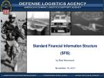 Standard Financial Information Structure (SFIS) by Bob Hammond  November 15, 2011
