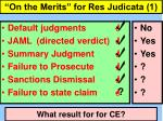 """""""On the Merits"""" for Res Judicata (1)"""