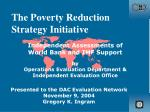 The Poverty Reduction Strategy Initiative
