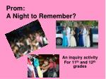 Prom: A Night to Remember?