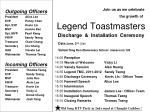 Legend Toastmasters Discharge  &  Installation  Ceremony