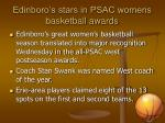 Edinboro's stars in PSAC womens basketball awards