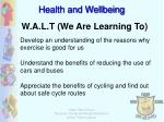 W.A.L.T (We Are Learning To)