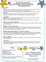 Starfish Class Newsletter Starfish Class - 'Stars in the making !'